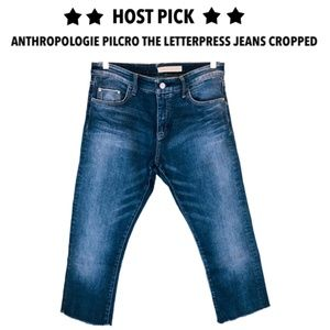Anthropologie Pilcro The Letterpress cropped jeans